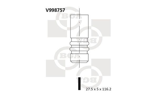BGA: Original Auslaßventil V998757 ()