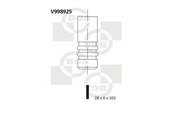 BGA: Original Auslaßventil V998925 ()