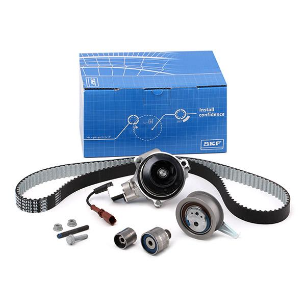 Car spare parts VW TIGUAN 2015: Water pump and timing belt kit SKF VKMC 01278 at a discount — buy now!