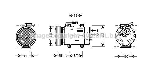 Original MITSUBISHI Kompressor Klimaanlage VOAK101