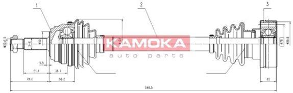 Halbachse KAMOKA VW1138919