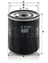 MANN-FILTER   Filtre à huile W 7053