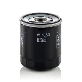 Achat de W 7053 MANN-FILTER avec un clapet de non retour Diamètre intérieur 2: 66mm, Ø: 76mm, Diamètre extérieur 2: 72mm, Hauteur: 89mm Filtre à huile W 7053 pas chères