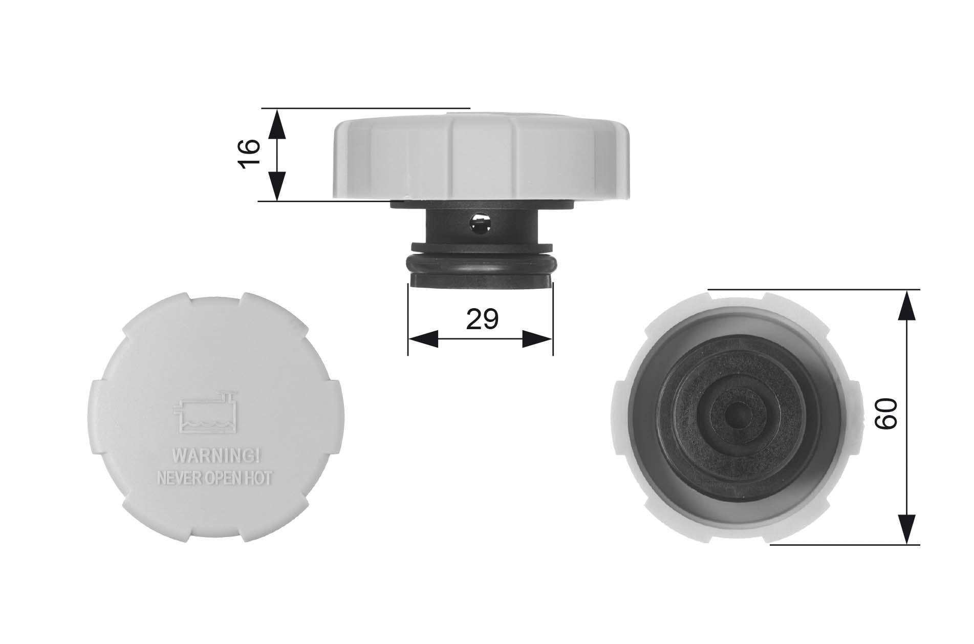 OE Original Deckel Ausgleichsbehälter RC231 GATES