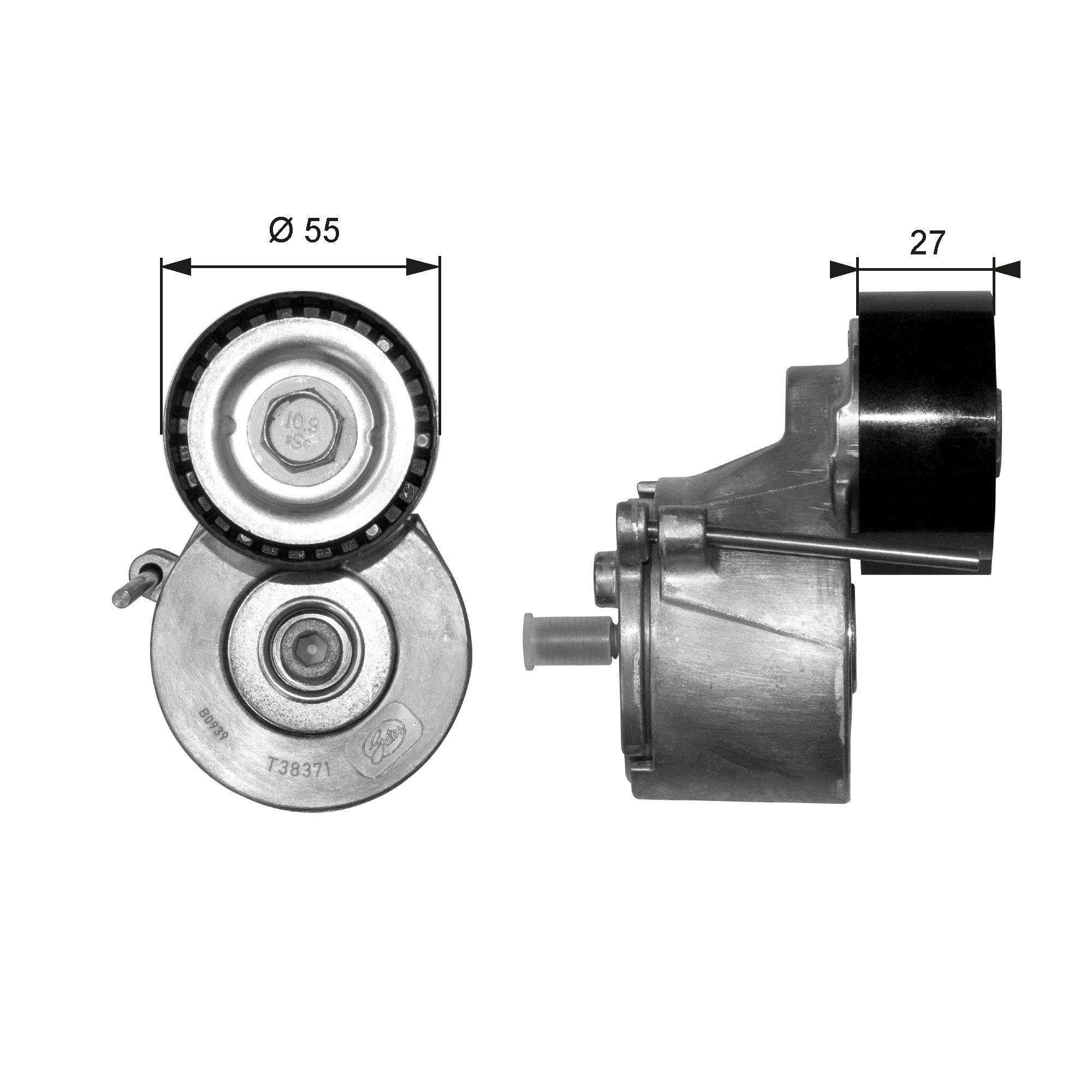 Original FORD Spannrolle T38371