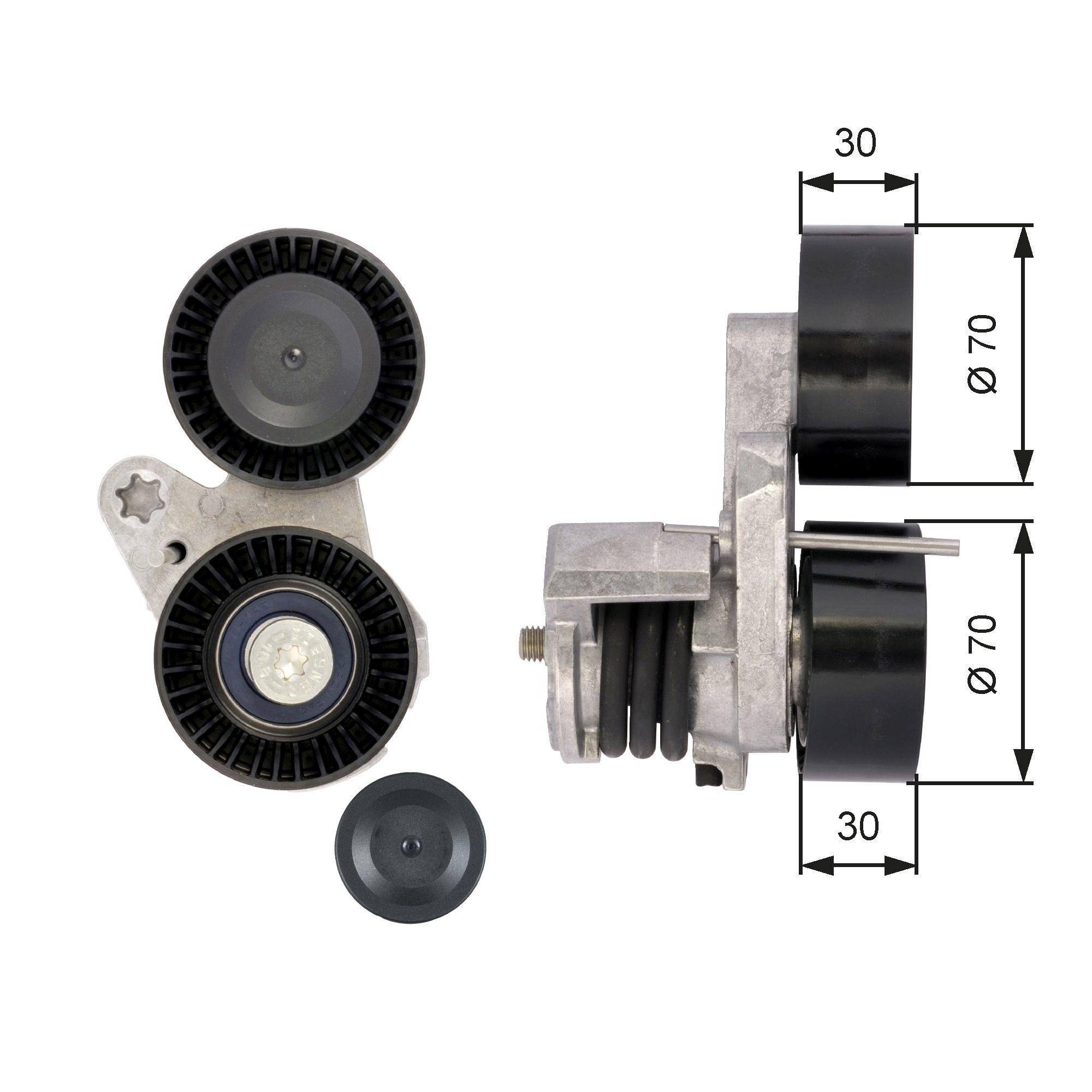 780821514 GATES FleetRunner™ Micro-V® Kit Spannrolle, Keilrippenriemen T39114 günstig kaufen