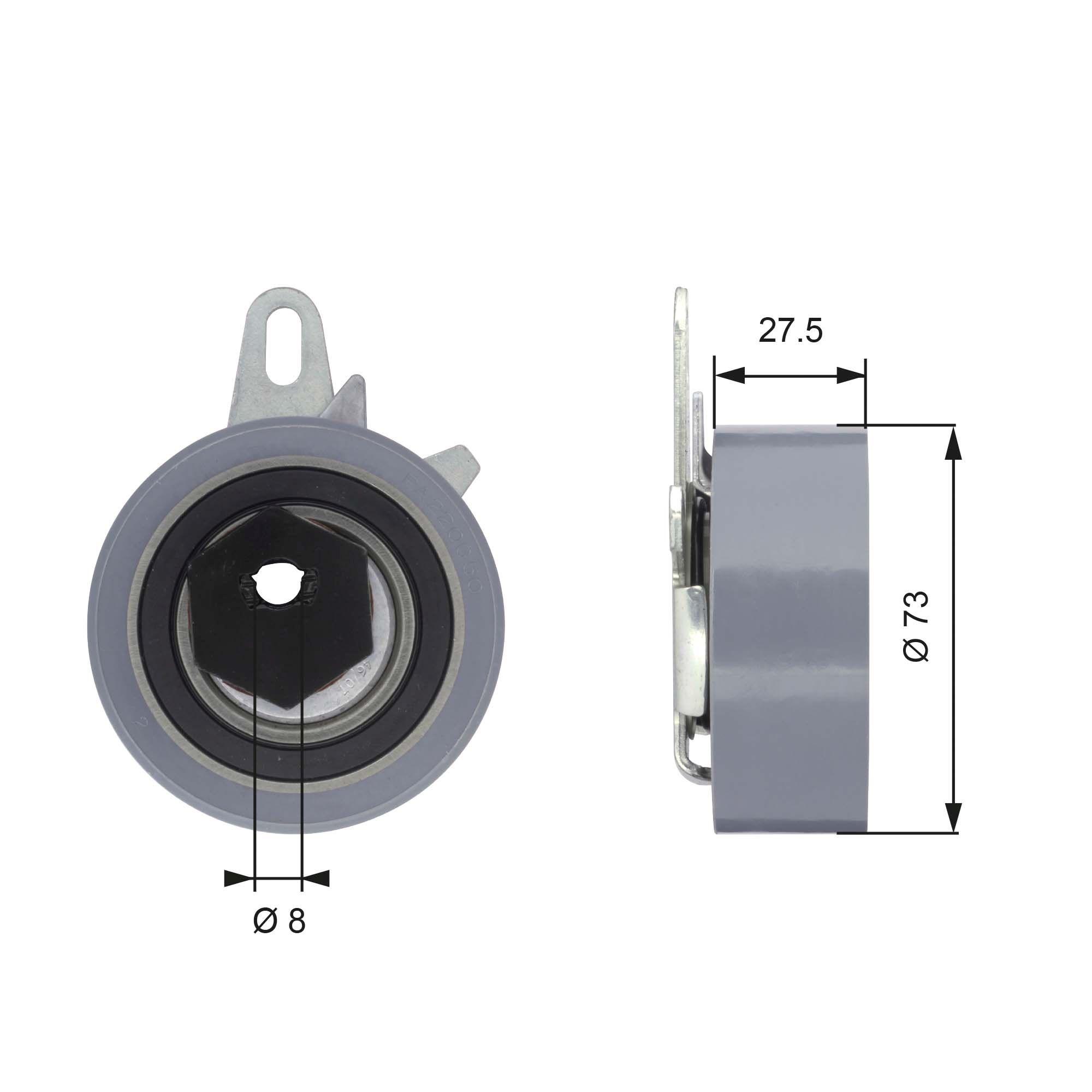 778421047 GATES FleetRunner™ Micro-V® Stretch Fit® Spannrolle, Zahnriemen T43054 günstig kaufen