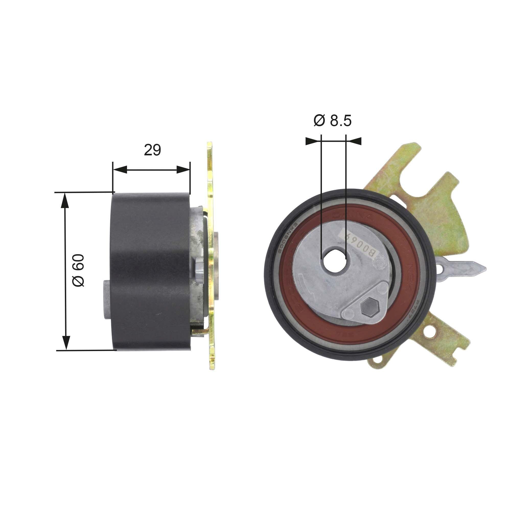 778421082 GATES FleetRunner™ Micro-V® Stretch Fit® Spannrolle, Zahnriemen T43089 günstig kaufen