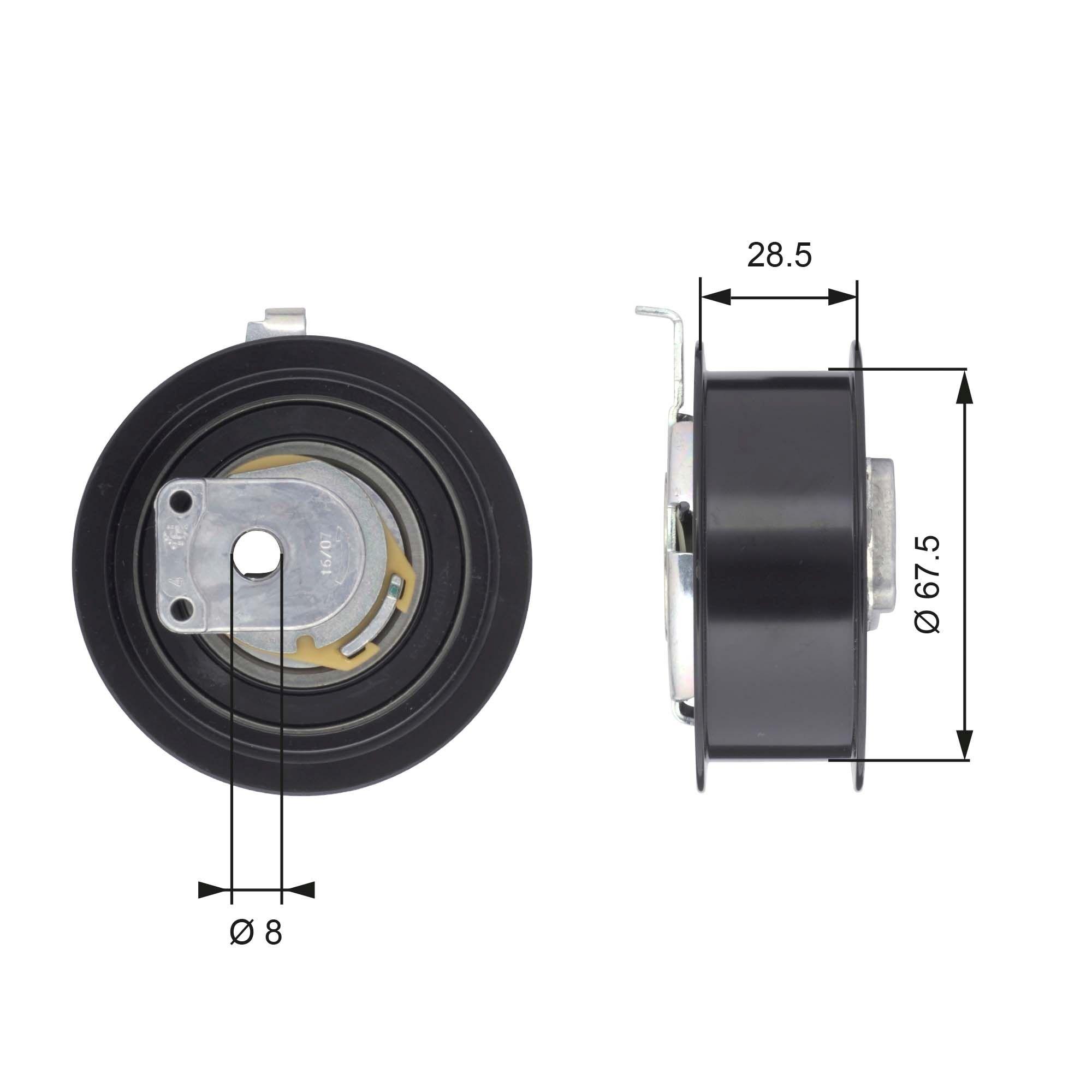 778421091 GATES FleetRunner™ Micro-V® Stretch Fit® Spannrolle, Zahnriemen T43110 günstig kaufen
