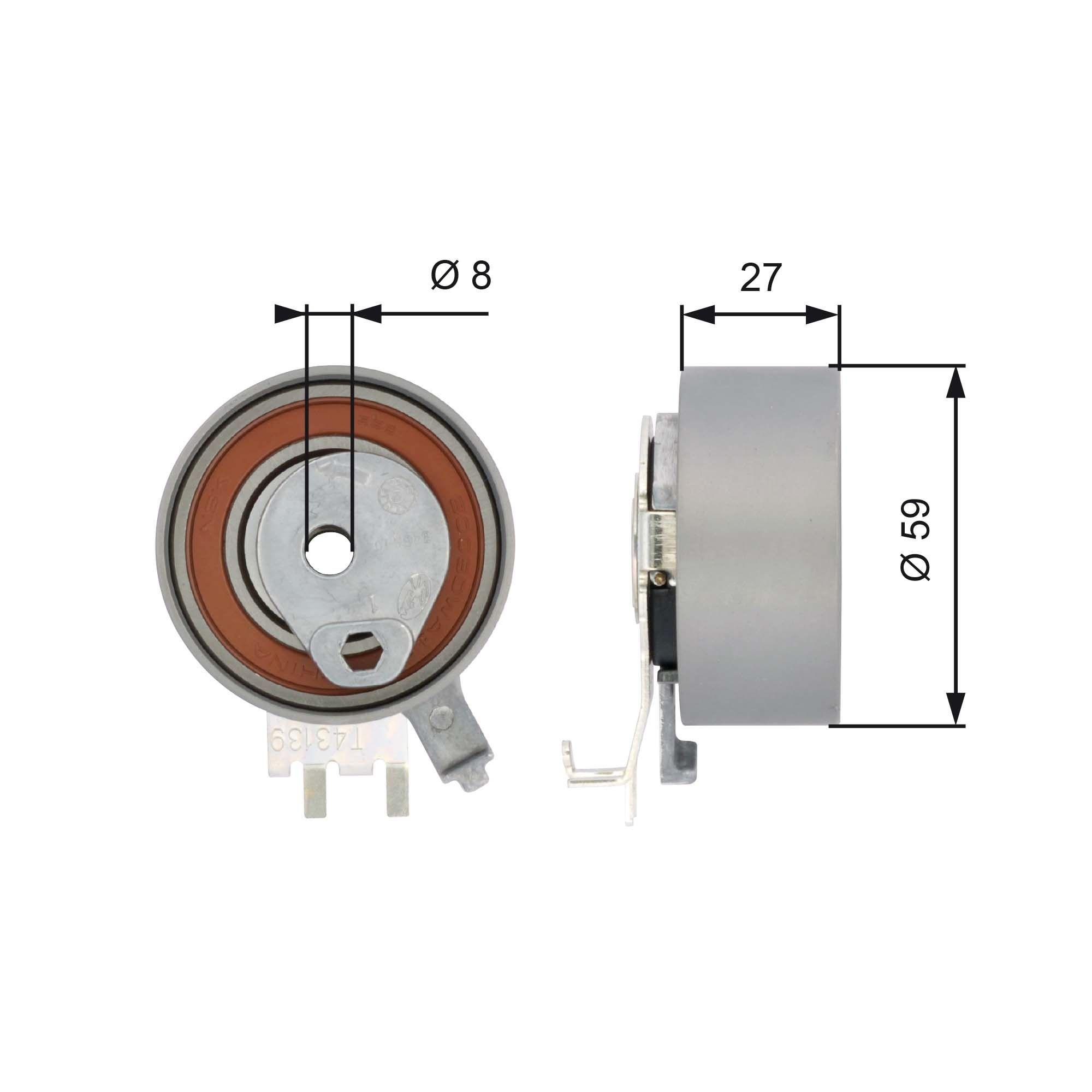 Ostaa 778421154 GATES FleetRunner™ Micro-V® Stretch Fit® Kiristysrulla, hammashihnat T43139 edullisesti