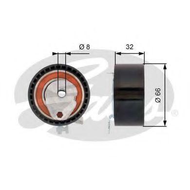 778421145 GATES FleetRunner™ Micro-V® Stretch Fit® Spannrolle, Zahnriemen T43168 günstig kaufen