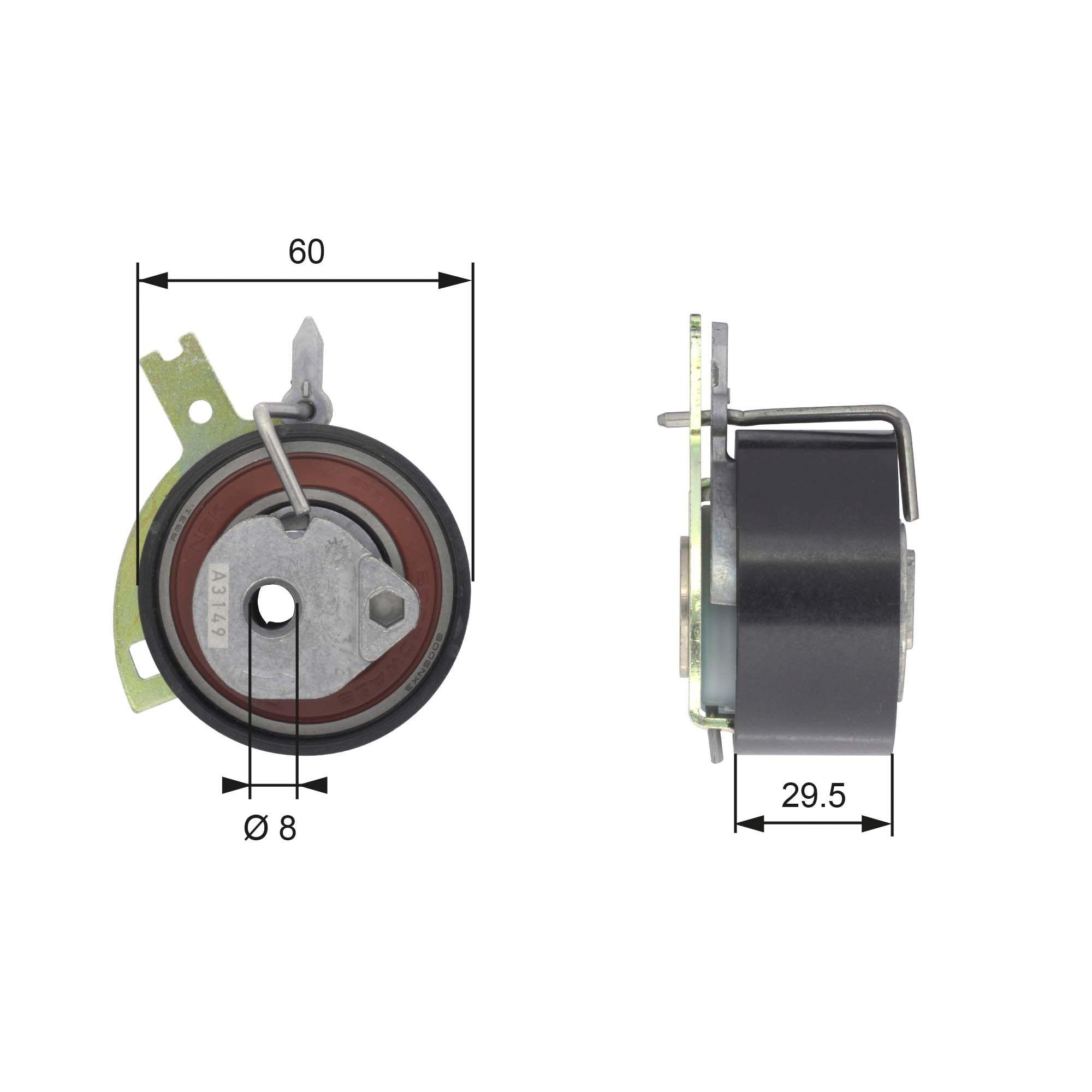 778421153 GATES FleetRunner™ Micro-V® Stretch Fit® Spannrolle, Zahnriemen T43186 günstig kaufen