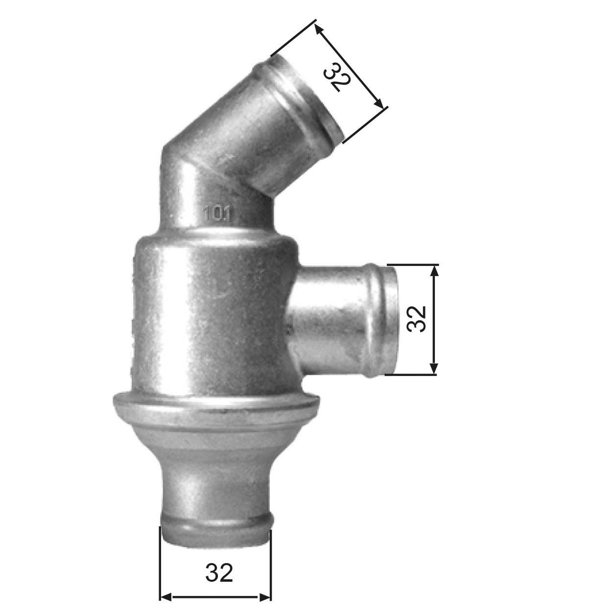 Motor koelsysteem TH01782 met een uitzonderlijke GATES prijs-prestatieverhouding