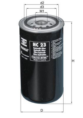 Köp MAHLE ORIGINAL Hydraulikfilter, automatväxel HC 23 lastbil