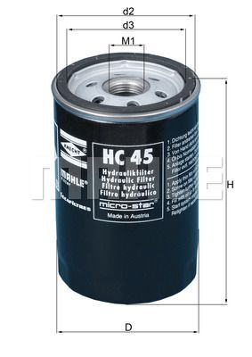 MAHLE ORIGINAL Filtro idraulico, Cambio automatico HC 45 acquisti con uno sconto del 31%