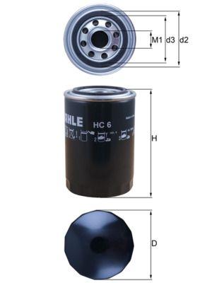 OE Original Hydraulikfilter Lenkung HC 6 MAHLE ORIGINAL