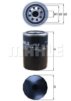 Filtro idraulico sterzo HC 6 MAHLE ORIGINAL — Solo ricambi nuovi