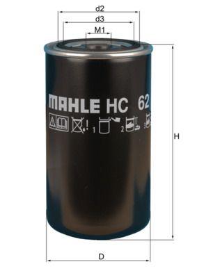MAHLE ORIGINAL Filtro idraulico, Cambio automatico HC 62 acquisti con uno sconto del 25%
