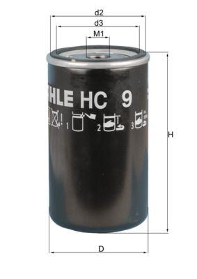 LKW Hydraulikfilter, Automatikgetriebe MAHLE ORIGINAL HC 9 kaufen