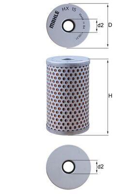 Filtro idraulico sterzo HX 15 MAHLE ORIGINAL — Solo ricambi nuovi