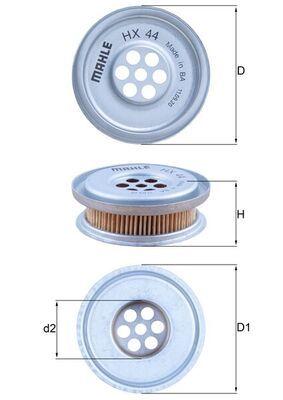 HX44 Filtro idraulico, Sterzo MAHLE ORIGINAL esperienza a prezzi scontati