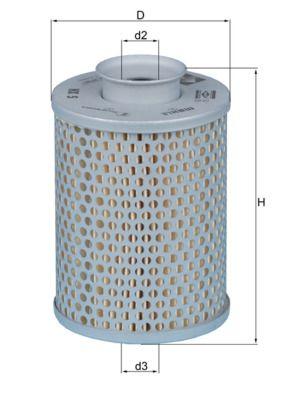 Filtro idraulico sterzo HX 5 MAHLE ORIGINAL — Solo ricambi nuovi