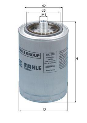 MAHLE ORIGINAL Kraftstofffilter passend für MERCEDES-BENZ - Artikelnummer: KC 218