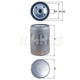 Comprar Filtro combustible de MAHLE ORIGINAL KC 6 a precio moderado