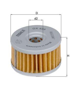 MAHLE ORIGINAL Oljefilter Filterinsats OX 409 SACHS