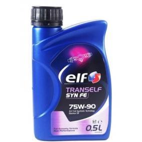 201520501010 ELF TRANSELF 75W-90, Vollsynthetiköl, Inhalt: 0,5l API GL-5, 341 Typ E3, 341 Typ Z2, 342 Typ S1, ZF TE-ML 02B, ZF TE-ML 05B, ZF TE-ML 12L, ZF TE-ML 12N, ZF TE-ML 16F, ZF TE-ML 17B, ZF TE-ML 19C, MB 235.8 Getriebeöl 2195286 günstig kaufen