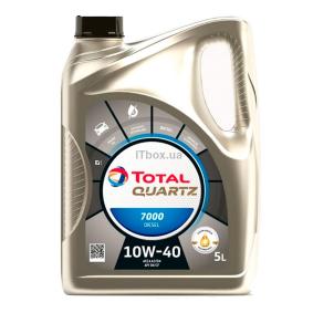 Купете TOTAL Quartz, 7000 Diesel 10W-40, 5литър, полусинтетично масло Двигателно масло 2202844 евтино