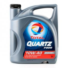 Kjøp 0501CA107C27466841 TOTAL Quartz, 7000 Diesel 10W-40, 5l, delsyntetisk olje Motorolje 2202844 Ikke kostbar