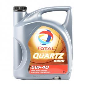 Купете TOTAL Quartz, 9000 5W-40, 5литър, Масло напълно синтетично Двигателно масло 2198275 евтино