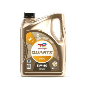 Купете 201510301041 TOTAL Quartz, 9000 5W-40, 5литър, Масло напълно синтетично Двигателно масло 2198275 евтино