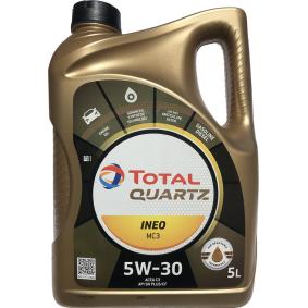 Купете TOTAL Quartz, INEO MC3 5W-30, 5литър, Масло напълно синтетично Двигателно масло 2204221 евтино