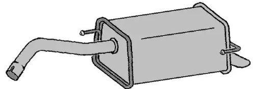 VEGAZ: Original Endschalldämpfer DS-319 ()