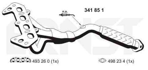 Ford FOCUS 2017 Manifold exhaust system VEGAZ FR-270ERNS: with exhaust pipe gasket, Set
