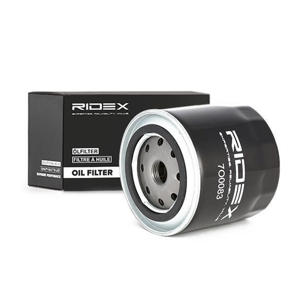 RIDEX: Original Motorölfilter 7O0151 (Ø: 86mm, Höhe: 89mm)