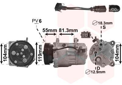 Kompressor VAN WEZEL 0300K001