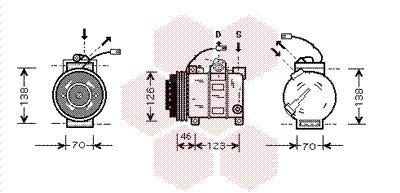 Kompressor Klimaanlage VAN WEZEL 0300K015