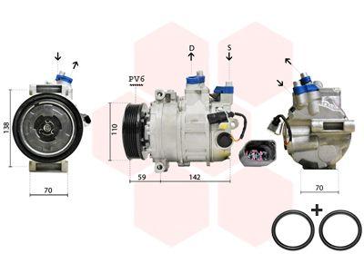 0300K029 Klimakompressor VAN WEZEL in Original Qualität