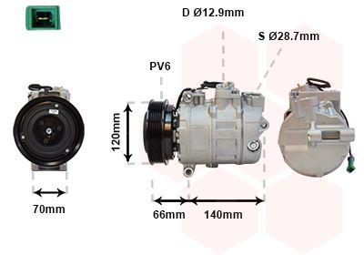 VAN WEZEL Klimakompressor 0300K150
