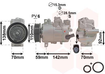 Original SEAT Klimakompressor 0300K270