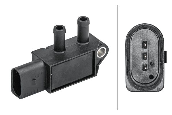 AUDI A6 2014 Differenzdrucksensor - Original HELLA 6PP 009 409-161 Pol-Anzahl: 3-polig