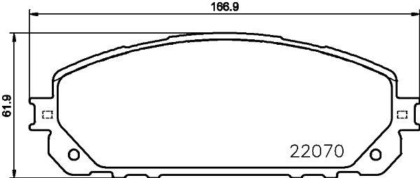 Original JEEP Bremsbelagsatz 8DB 355 023-391