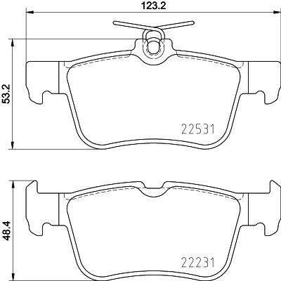 HELLA Bremsbelagsatz, Scheibenbremse 8DB 355 025-491