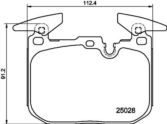 Bremsklötze HELLA 8DB 355 025-771