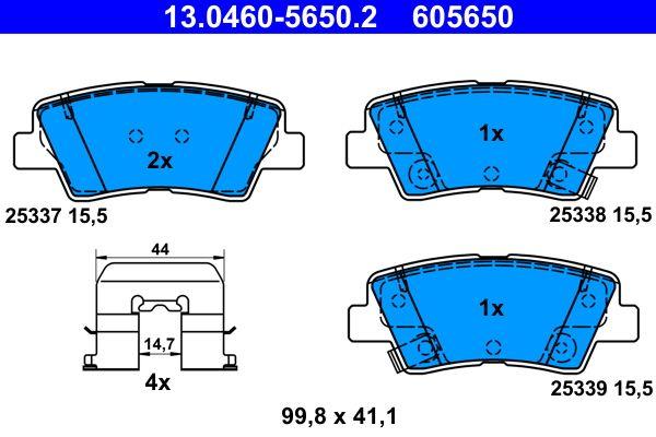 13.0460-5650.2 Bremssteine ATE in Original Qualität