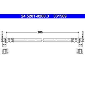 331569 ATE Length: 280mm, Inner Thread 1: M10x1mm Brake Hose 24.5201-0280.3 cheap