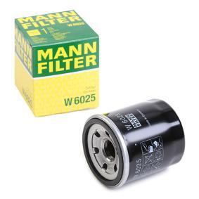 W 6025 MANN-FILTER Vnitřni průměr 2: 54mm, R: 66mm, Vnější průměr 2: 62mm, Výška: 75mm Olejový filtr W 6025 kupte si levně